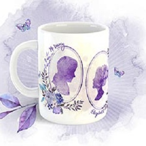 Free limited edition Jane Austen Drama Mug