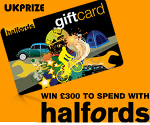 Win £300 to Spend at Halfords