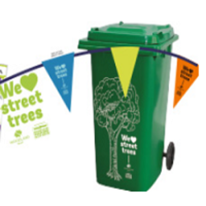"Free ""We ♥ Trees"" Street Bin Stickers"