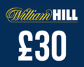 £30 in free bets at William Hill